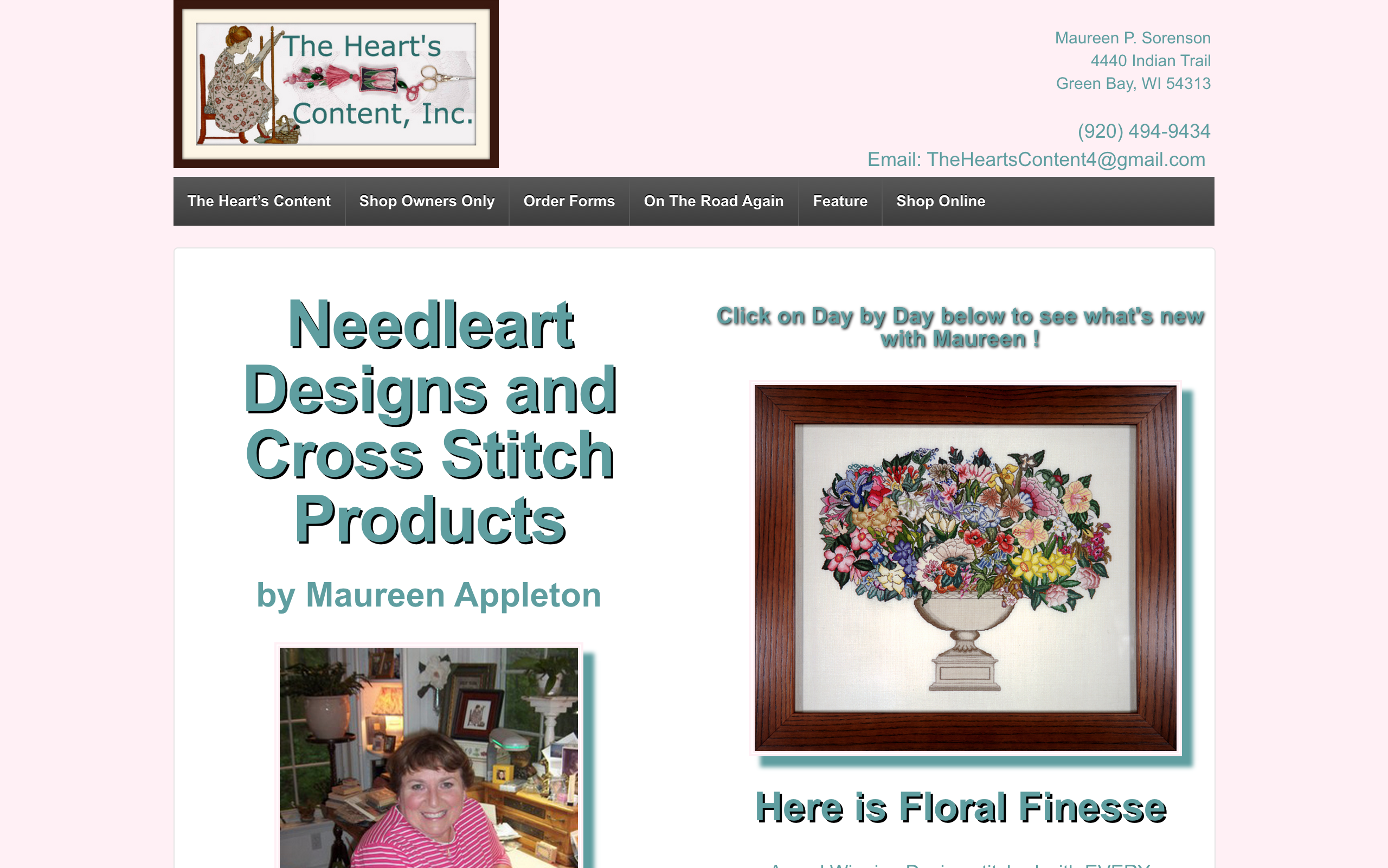 screenshot of TheHeartsContent.com